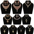 Shriya 10 Austrian Diamond And 18 Karat Gold Plated Combo Nacklace Set With Maang Tikka And Pendant Set