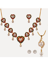 Nisa Pearls Combo Of 1Necklace Set 1 Pendant Set
