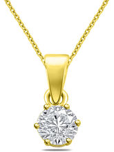 Sparkles Beautiful Yellow Gold Pendant P6268