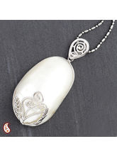 Oval Mother Of Pearl Necklace