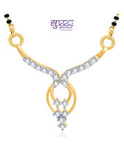 Sukkhi Traditional CZ Gold And Rhodium Plated Mangalsutra Pendant