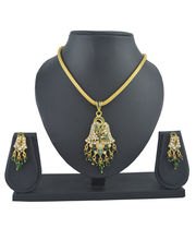 Aakshi Green Peacock Jhumka Design Jewellery Set