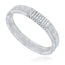 Mahi Rhodium Plated Uber-Chic Kada with Crystals For Women BA1100559R
