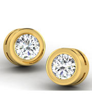 Sparkles 0.15ct Diamond Earrings In 18 Kt Gold & Real Diamonds