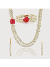Nisa Pearls Gold Plated Pearl Necklace For Women