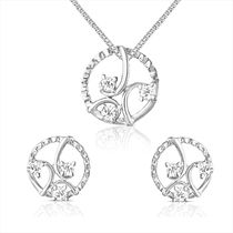 92.5 Sterling Silver Orchid Swarovski Zirconia Pendant Set without Chain from Elysia Collection by Mahi NL3101008S