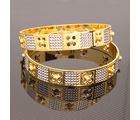 Vendee fashion Gold Silver CZ Diamond Bangles– 7515