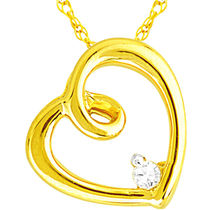 Jpearls Lucky Heart Diamond Pendant