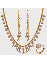 Nisa Pearls Combo of 1Necklace Set 1Ring