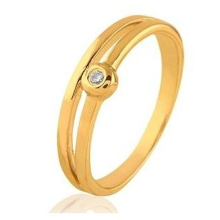Fullcutdiamond 0.02 Cts Diamond RING In Gold & Rea...