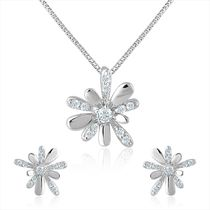 92.5 Sterling Silver Tweedia Swarovski Zirconia Pendant Set without Chain from Elysia Collection by Mahi NL3101022S