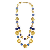 Go Bold Gold Colored Oceanus Necklace (A05903)