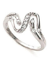 Kiara Sterling Silver Twisted Snake Shape Ring Kir...