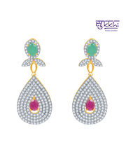 Sukkhi Marvellous Ruby And Emerald Studded Gold And Rhodium Plated CZ Necklace Set