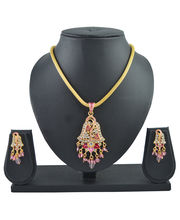 Aakshi Pink Peacock Jhumka Design Jewellery Set