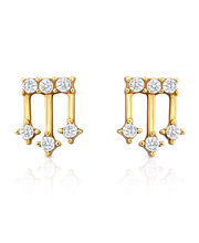 Oviya Gold Plated Enigmatic Rendition Earrings With Crystal For Women - ER2193016G