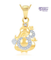 Sukkhi Modern Gold and Rhodium Plated CZ God Pendant