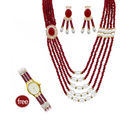 Valentine Royal Necklace Combo by Nisa Pearls - VD1149