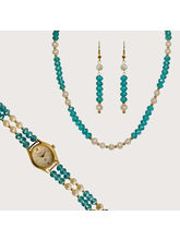Nisa Pearls Combo Set Of 1 Necklace Set, 1 Watch