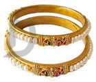 Designer Pearl Cz Bangle