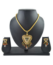 Aakshi Trikona Pendant Design Jewellery Set