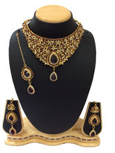 Shriya 18 Karat Gold Plated Bridal Necklace Set Wi...