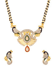 Voylla Mangalsutra Set With Peacock Design-VLJAI20663