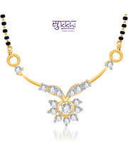 Sukkhi Gracefull CZ Gold And Rhodium Plated Mangalsutra Pendant