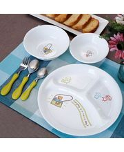 Corelle Kids Collection Happy Day Dinner Set Of 6 Pcs, multicolor