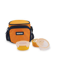 Smart Lock Sml-302 Airtight Tiffin Box With Insulated Bag Melamine 2 Pc Set,  yellow