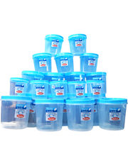 Chetan Set Of 21 Pc Twist Lock Kitchen Container-25000 Ml, Blue