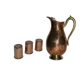Tera India Ancient Style Jug With 3 Glasses Combo Set - RI_ Prod_ 0079...