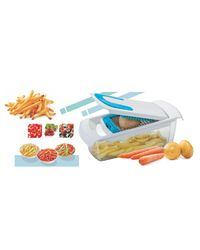Amiraj Unbrekable Vegetable Chipser With 2 Blades, multicolor
