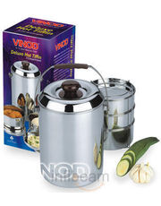 Vinod Steel Deluxe Hot Tiffin 3 Compartments