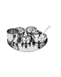 Tuff Line Stainless Steel 7 pc Dinner Set,  silver
