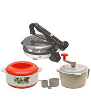 Kpro Combo Of Roti Maker, Dough Maker And Casserole, Multicolor