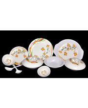 My Kitchen Melamine Dinner Set of 32 Pcs LE-MYK-006, multicolor