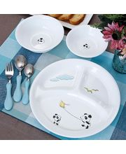 Corelle Kids Collection Playful Panda Dinner Set Of 6 Pcs, multicolor