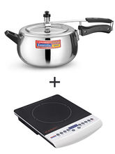 Padmini Premier 3.0 Ltr Ic Bold with Elegant 2000 w Induction Cooker