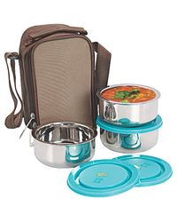 NanoNine Insulated 3pc Junior Lunch Box SS070, multicolor