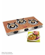 3 Burner Gas Stove-CS-3GT (Brown)