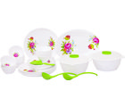 Crown Craft Dinner Set 18 Pcs Floret- Round, multicolor
