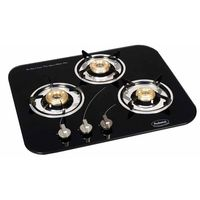 Padmini 3 Burner Hobs CS-300 GL-IB, black