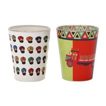 The Elephant Company Paaji Truck Shot Glasses,  white