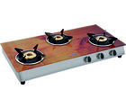 Surya Flame Italiano Wooden 3 Burner Gas Cooktop, multicolor