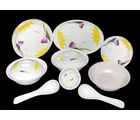 My Kitchen 32 Pcs Melamine Dinner Set LE-MYK-002, multicolor