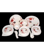 Lifestyle 40 Pcs Melamine Dinner Set LE-PG-009, multicolor