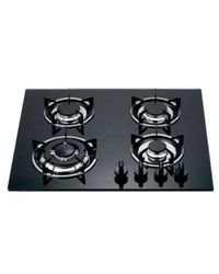 Quba 4 Burner Gas Built in Hob H13,  black
