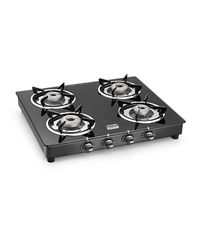 Cookplus 4 Burner Gas Stove Crystal Black-4 Gt Lava,  black