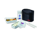 Lock and Lock Lunch Set With Black Bag HPL758DB, black